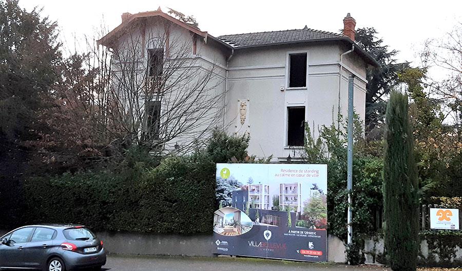 Projet immobilier «VILLA BELLEVUE»: LANCEMENT DES TRAVAUX